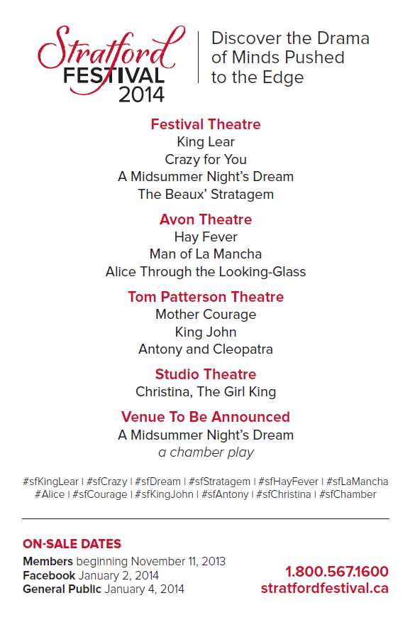 Stratford Festival 2014